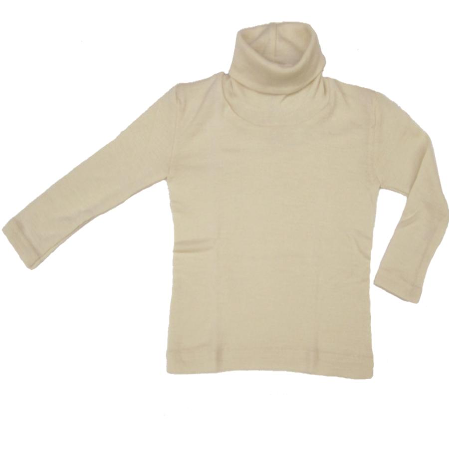 Sous-vêtements ENGEL - Col roulé Ecru en laine/soie (tailles 86-140)