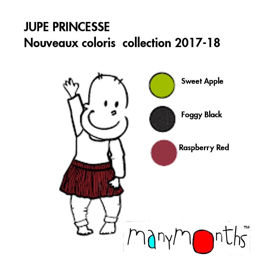 Laine 100% mérinos Ancienne Collection MANYMONTHS – JUPE PRINCESSE en pure laine mérinos