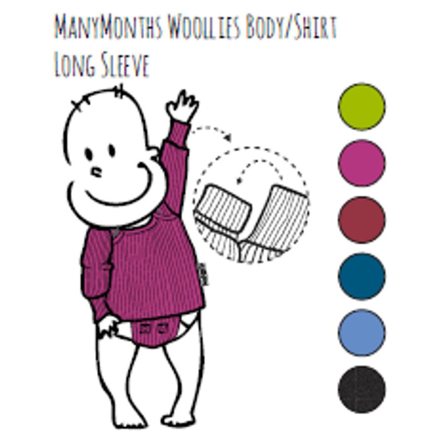 Laine Bio Ancienne Collection MANYMONTHS - T-SHIRT ENFANT manches courtes en pure laine mérinos