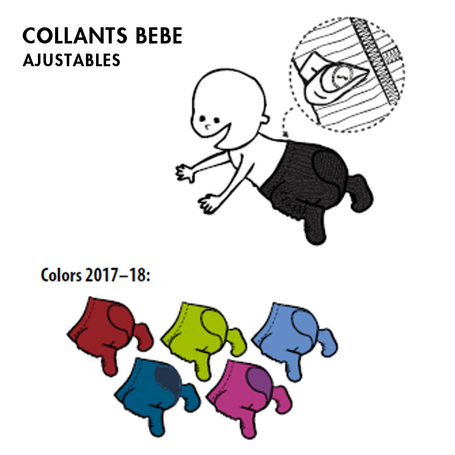 Pantalons et pantacourts MANYMONTHS – COLLANTS AJUSTABLES en pure laine mérinos