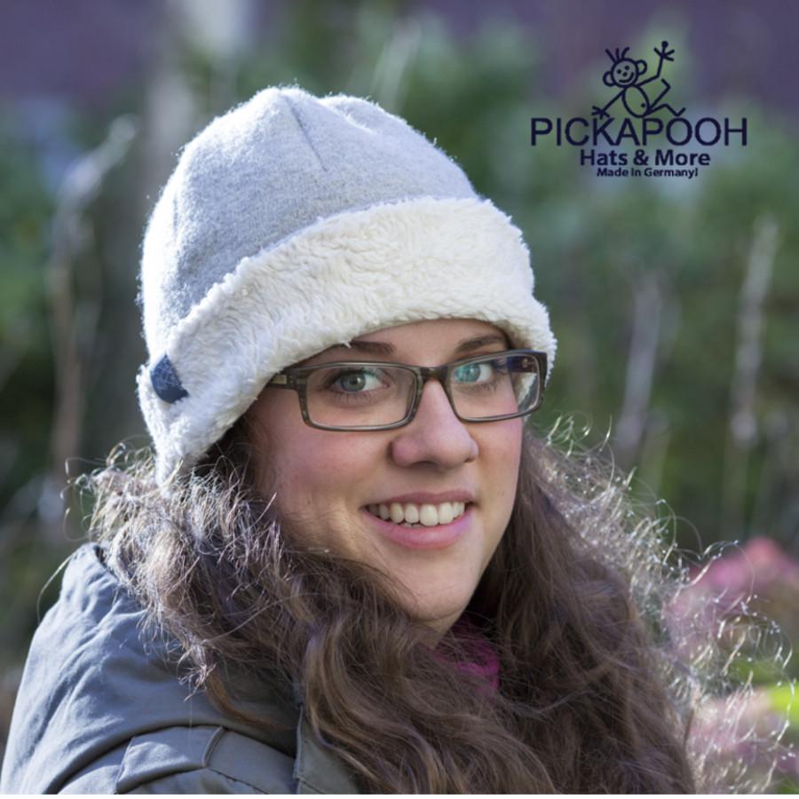 Racine PICKAPOOH - Bonnet en laine JO - GRIS
