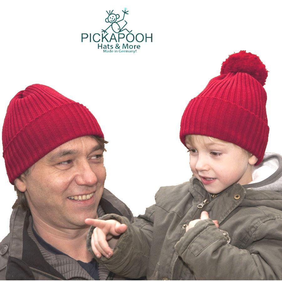 Racine PICKAPOOH - Bonnet en laine mérinos NINA - ROUGE