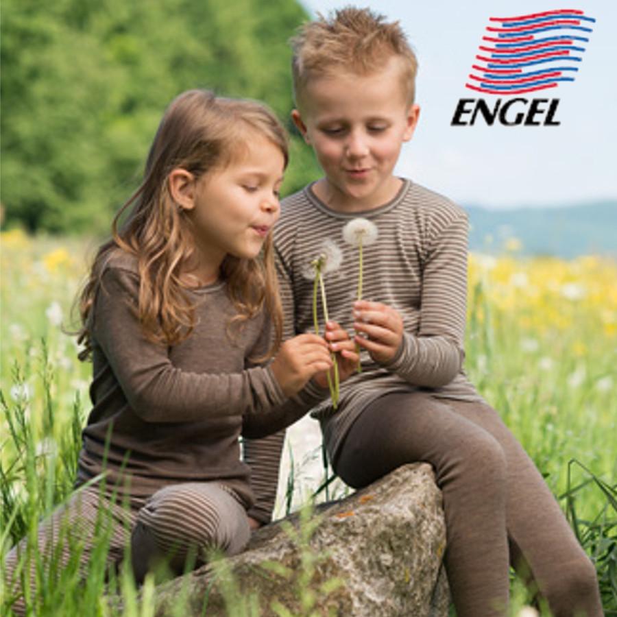 ENGEL Natur ENGEL – LEGGING RAYURES ECRU-NOIX en Laine/Soie (86-152)