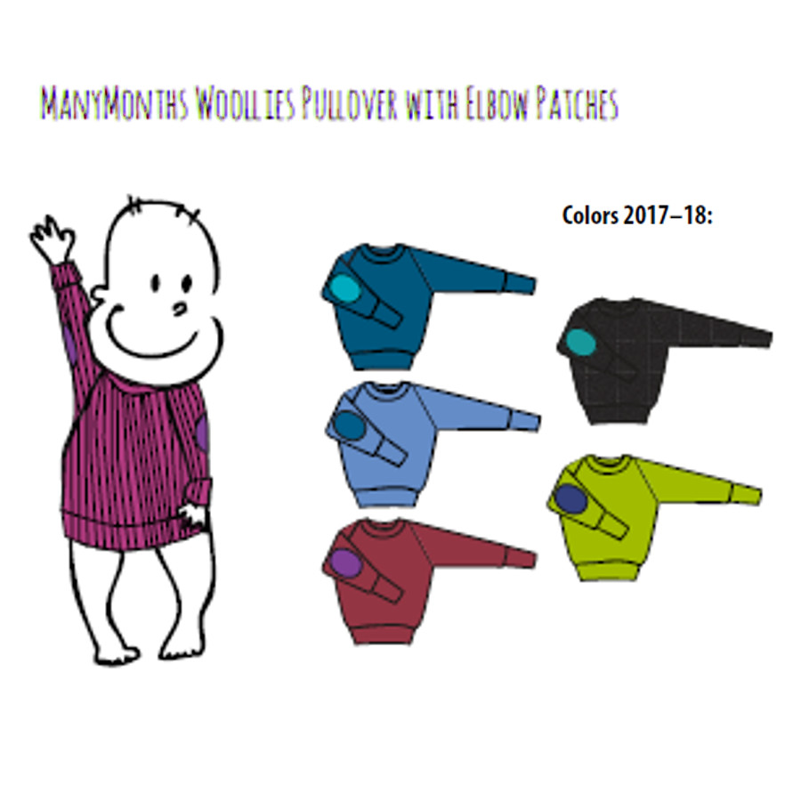 Racine MANYMONTHS – PULL en pure laine mérinos avec coudes renforcés
