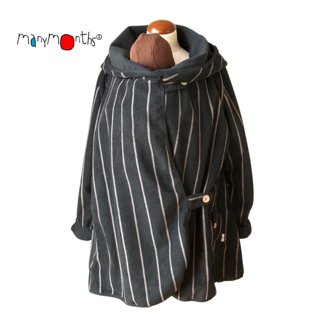 Vestes et manteaux MaM MaM MOTHERHOOD COAT – SILVER STRIPE – Veste de maternité Portage Ventre/Dos Polaire Imperméable