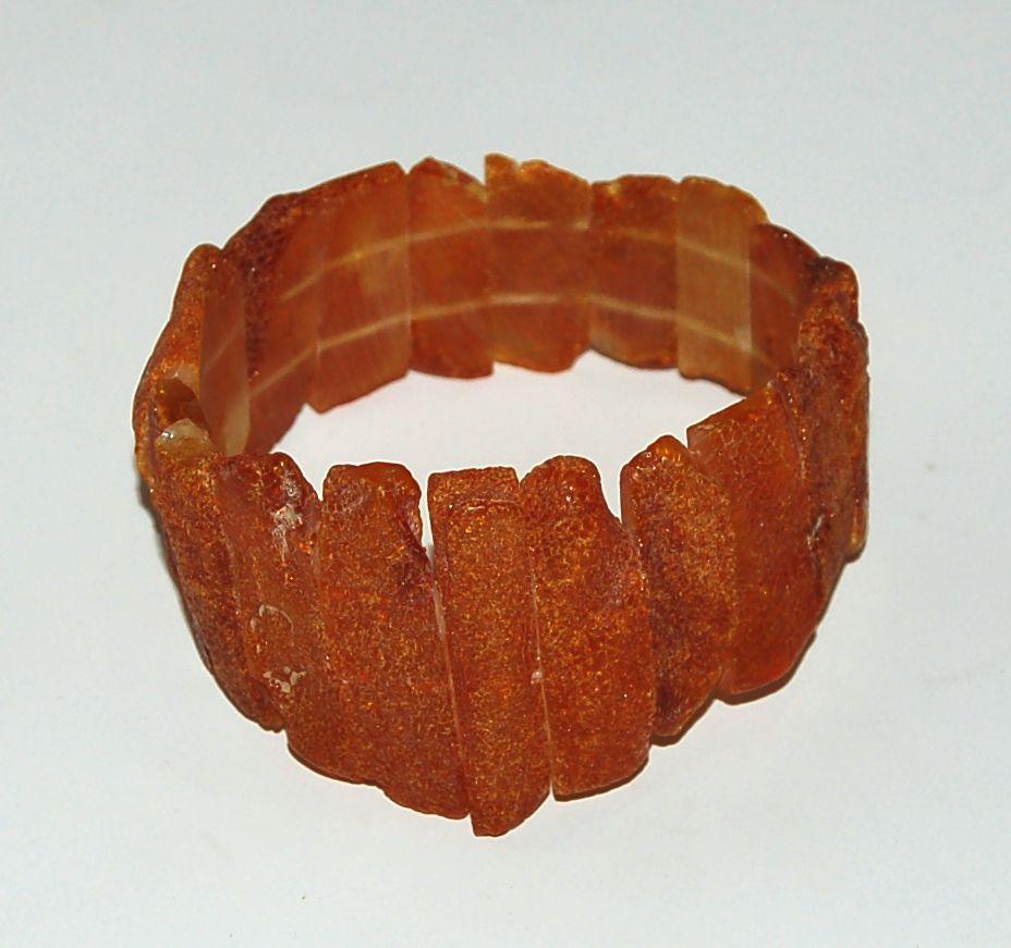 Racine Bracelets d'ambre PLAQUES FINES Miel pour ADULTE