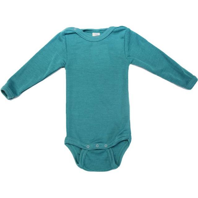 Racine ENGEL - Body manches longues Turquoise en laine et soie