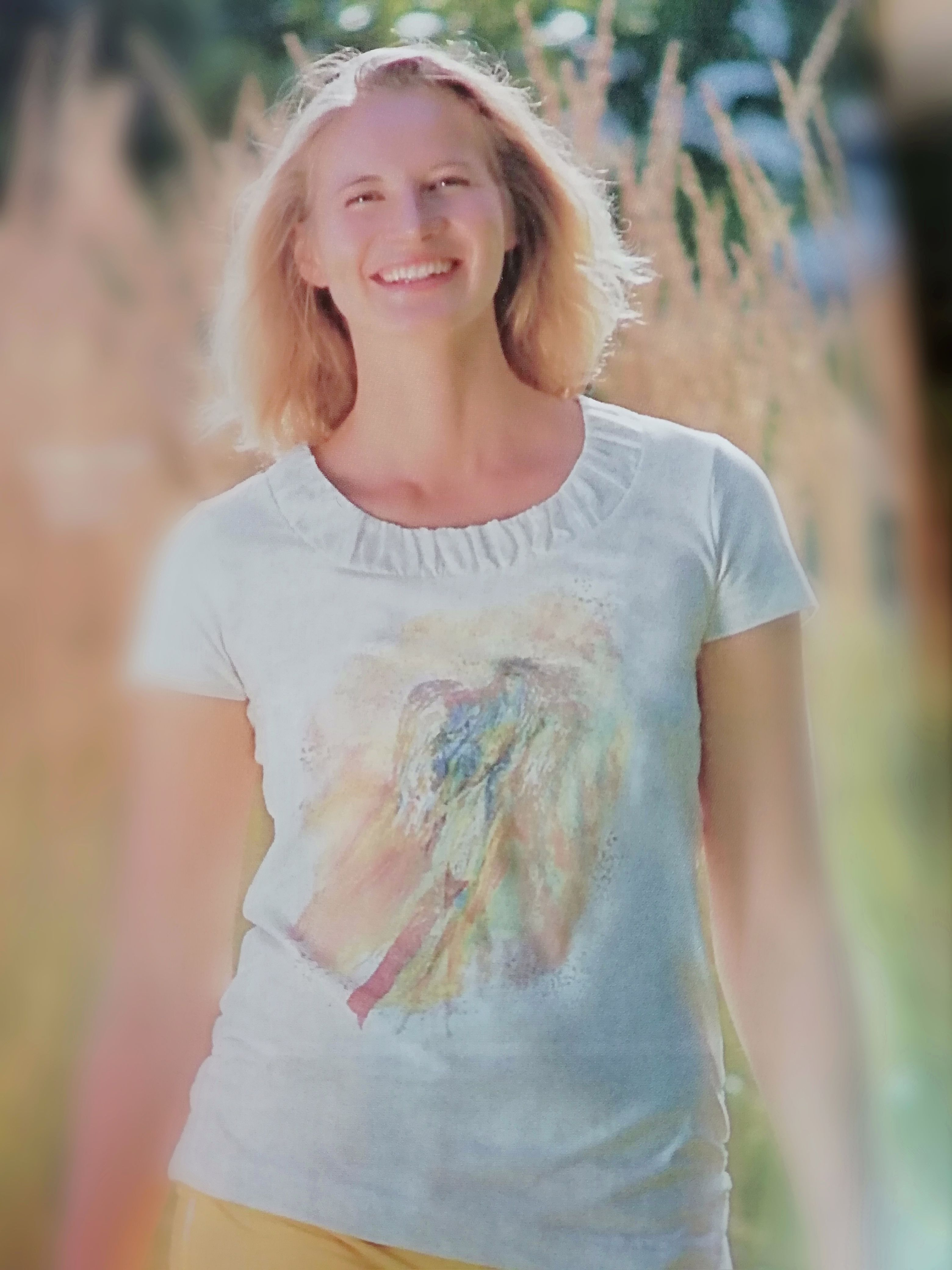 Racine T-shirt manches courtes imprimé Ange