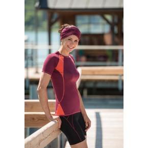 Racine T-shirt ENGEL manches courtes spécial sport rouge bordeaux/orange