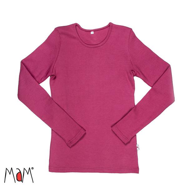 Idées Cadeaux MaM Natural Woollies 2018/19 – t-shirt adulte manches longues en laine - Manymonths