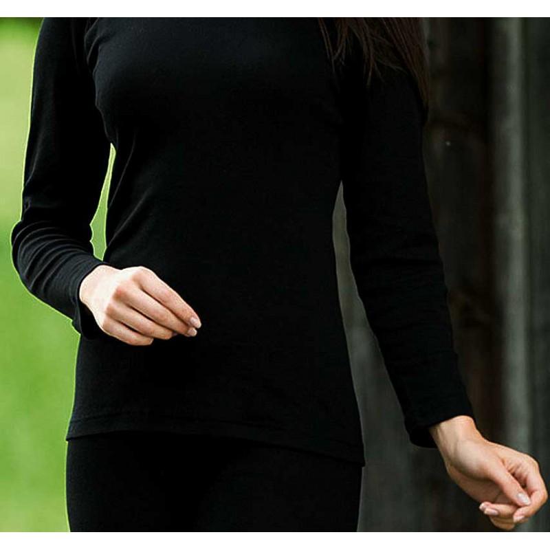 Vêtements et sous-vêtements laine et soie Engel Natur ENGEL - Sous-pull col roulé en laine/soie adultes Noir