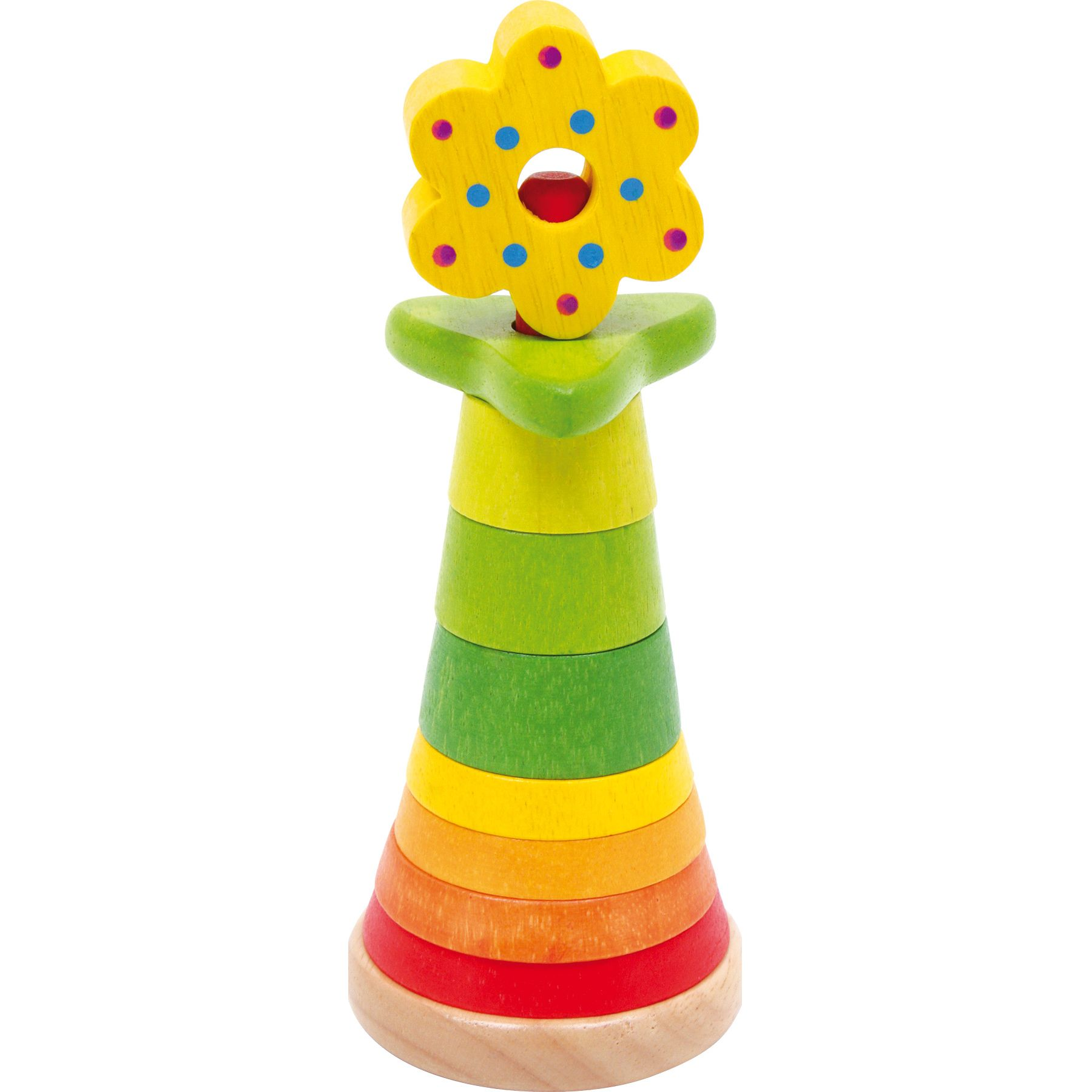 Jeux et Jouets Lelgler - Small foot Fleur en bois à empiler