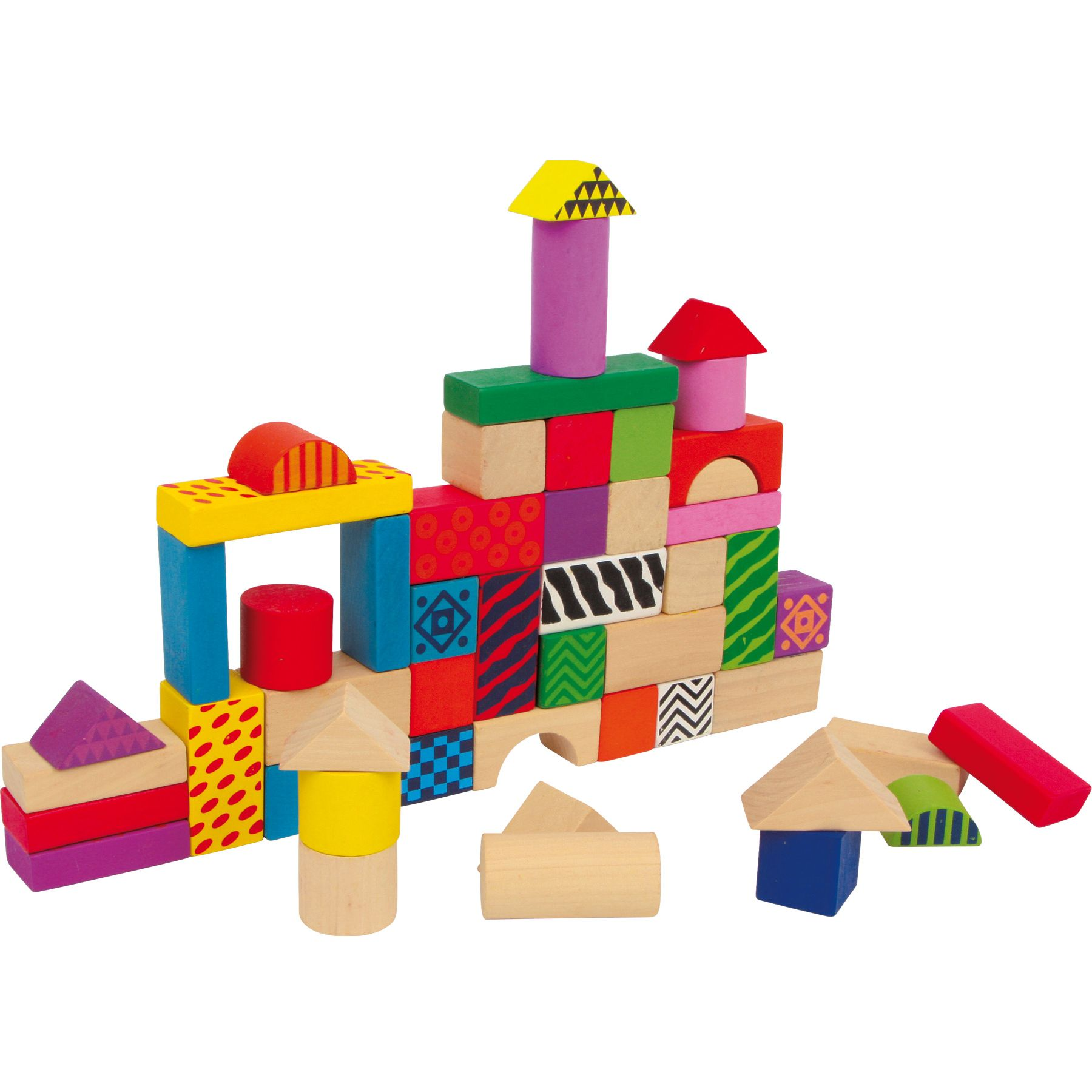 Jeux, Jouets Lelgler - Small foot Blocs de construction en bois