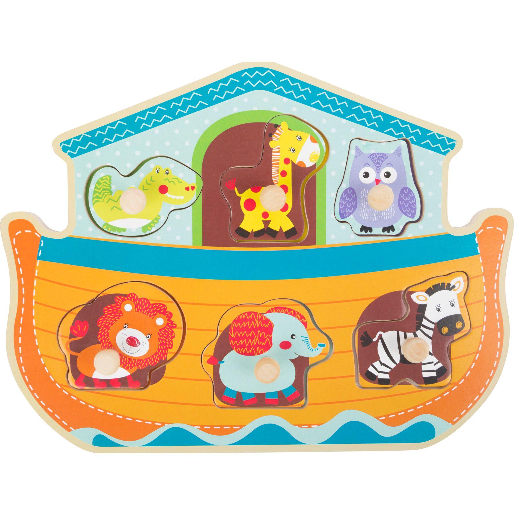 Racine Lelgler - Small foot Baby Puzzle en bois Arche de Noé