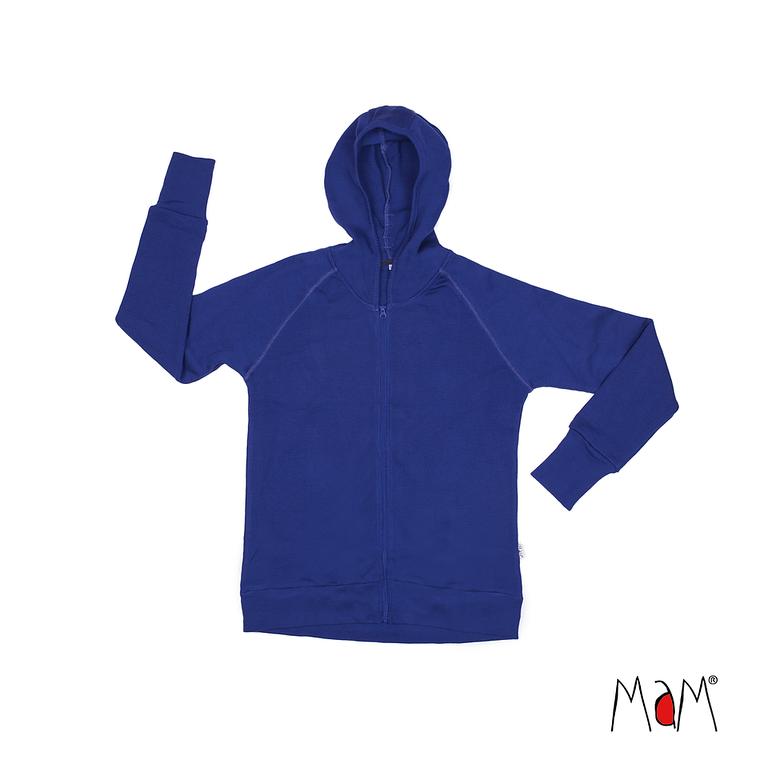 Laine Bio 2019-2020 MANYMONTHS 2019/20 –  Gilet zippé à capuche ajustable en pure laine mérinos