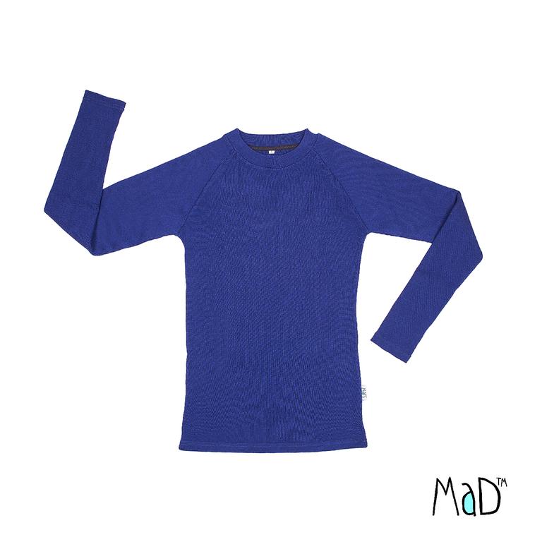 Laine 100% Mérinos 2019-2020 MaD 2019/20 Natural Woollies – T-shirt Homme manches longues en laine