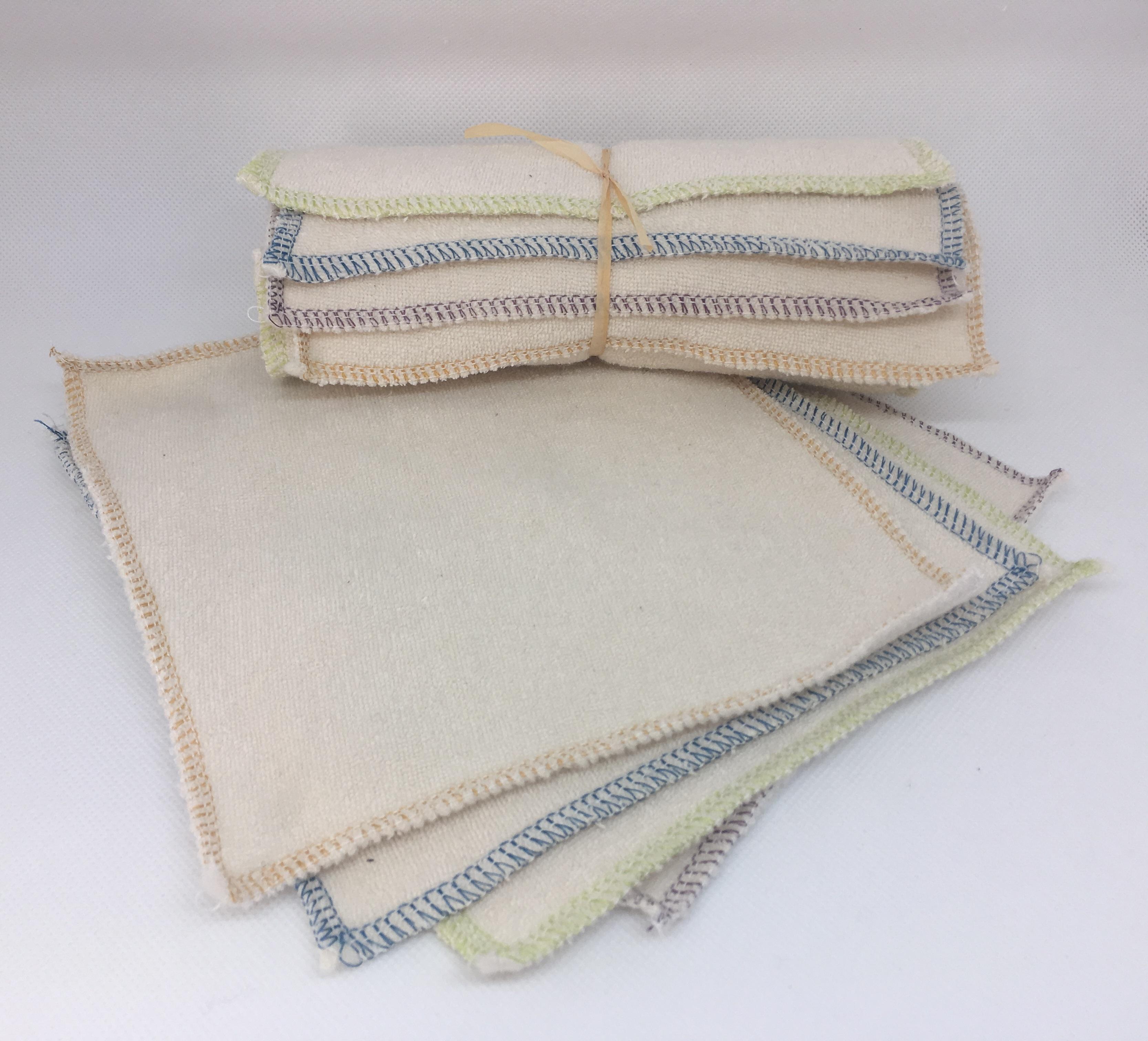 Coup de coeur Lingettes lavables Multi-usages pour bébé en coton bio (bi-face)