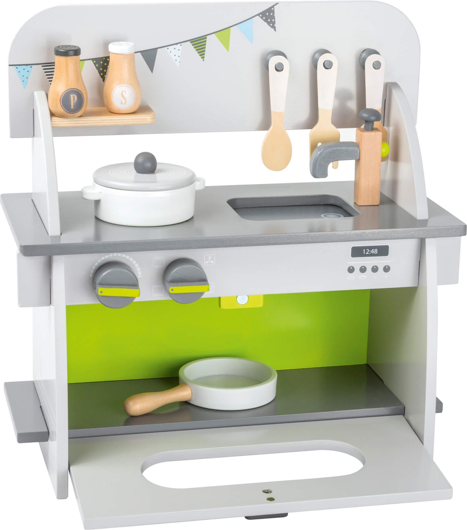 Jeux et Jouets Legler 2020 - Cuisine compact enfant en bois certifié FSC® 100%