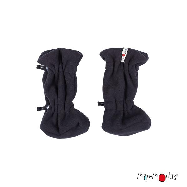 Chaussons et Bonnets de portage MANYMONTHS 2020-21 - Chaussons de portage ajustables et reversibles laine mérinos et polaire MaM TEC