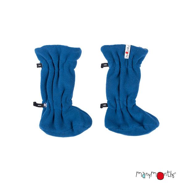 Chaussons et Bonnets de portage MANYMONTHS 2020-21 - Chaussons de portage ajustables  reversibles laine mérinos et polaire