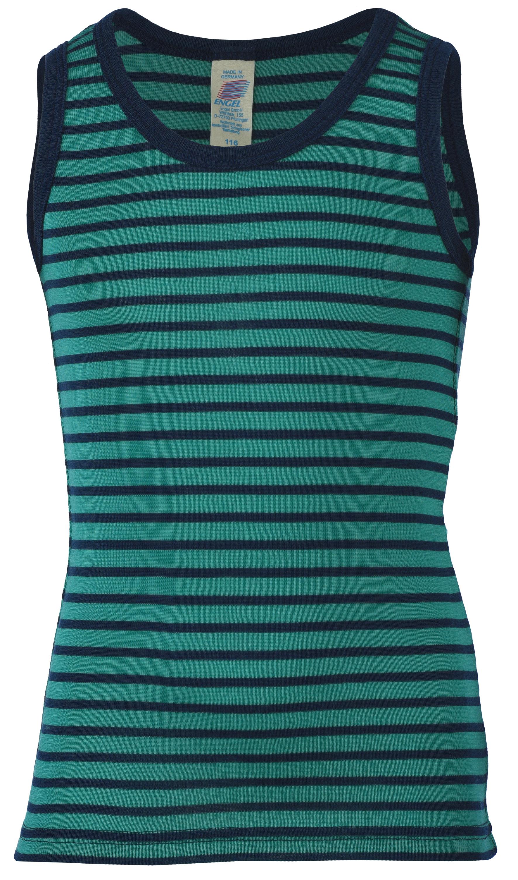 Sous-vêtements ENGEL Nouveauté - Débardeur à rayures enfants en laine et soie (tailles 92 à 164)