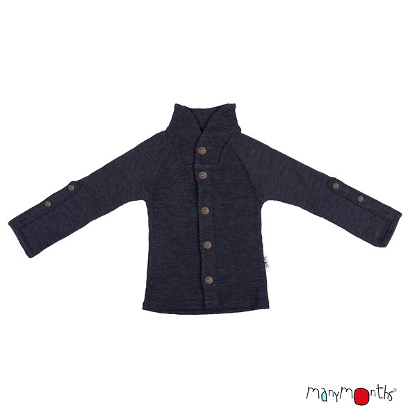 Débardeurs, T-shirts, pulls, gilets, multicapes et bodys Manymonths 2021-22 - Gilet à Col remontant en pure laine mérinos