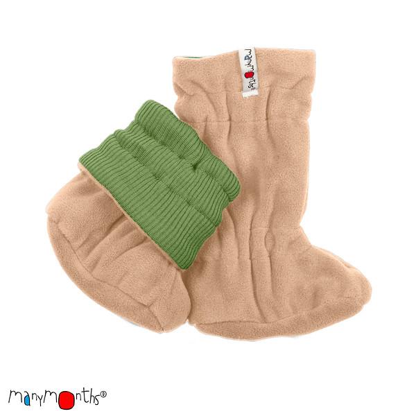 Chaussons de portage Manymonths 2021-22 - Chaussons de portage ajustables et réversibles laine mérinos et polaire