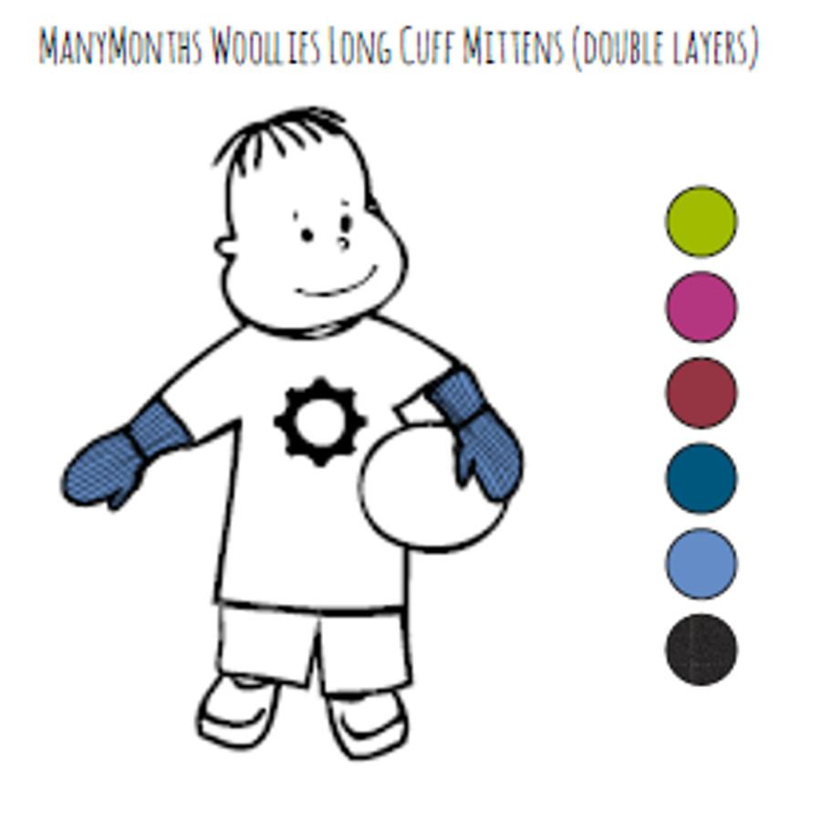 Laine 100% mérinos Ancienne Collection MANYMONTHS – MOUFLES en pure laine mérinos