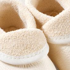 POLOLO SOFT - Chaussons souples en cuir naturel de tannage végétal Chausson Pololo BAPTÊME blanc (16 à 23)