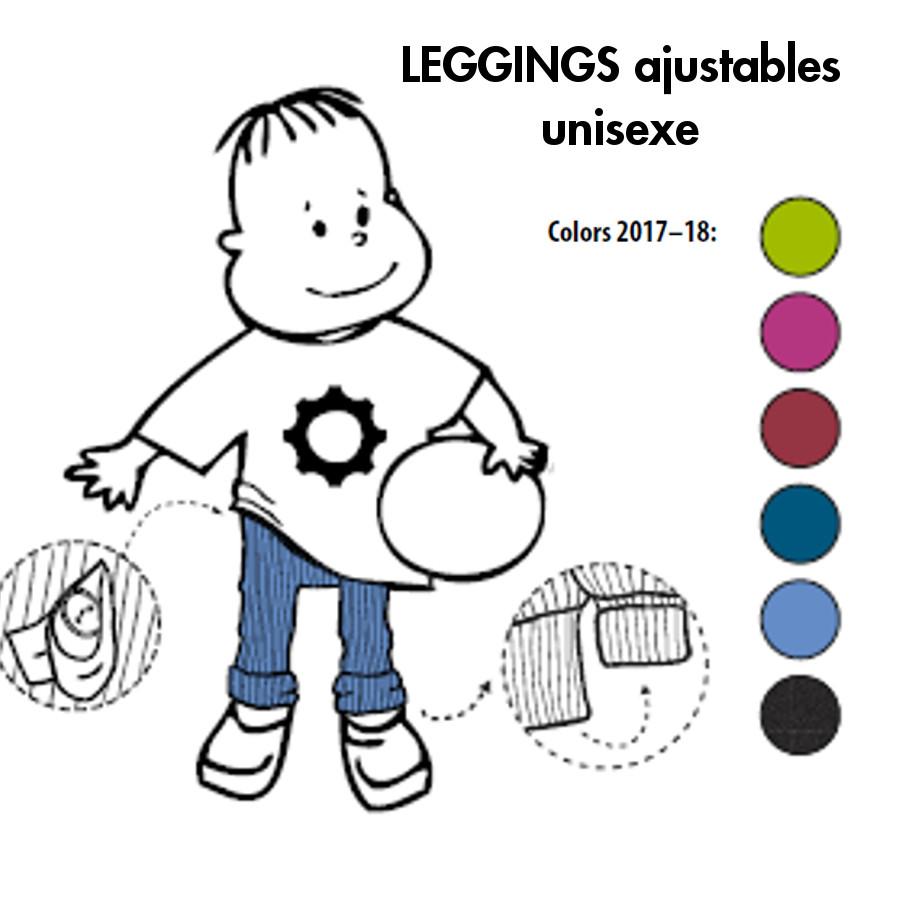 Laine Bio 2018-2019 MANYMONTHS - LEGGINGS UNISEX pour enfants en pure laine mérinos