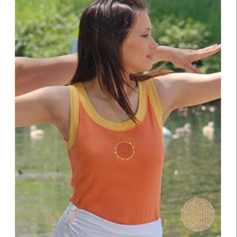 Racine DEBARDEUR - FLEUR DE VIE Soleil-Orange