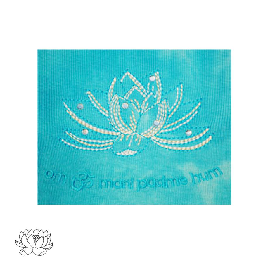 Racine T-Shirt Batik LOTUS bleu turquoise