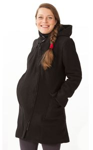 Racine MAMALILA - Manteau de grossesse et portage  à capuche en laine