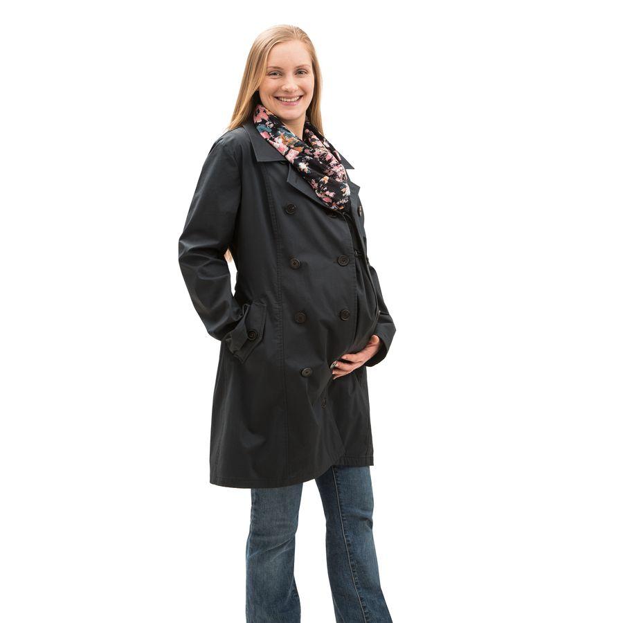 Racine MAMALILA – TRENCHCOAT de grossesse et portage 3 en 1 NOIR-FUCHSIA