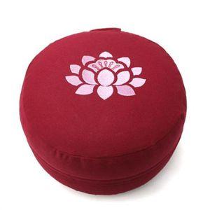 Coussins de médiation - Soie, velours, broderies FLEUR DE LOTUS – Coussin de méditation CLASSIC 14 cm