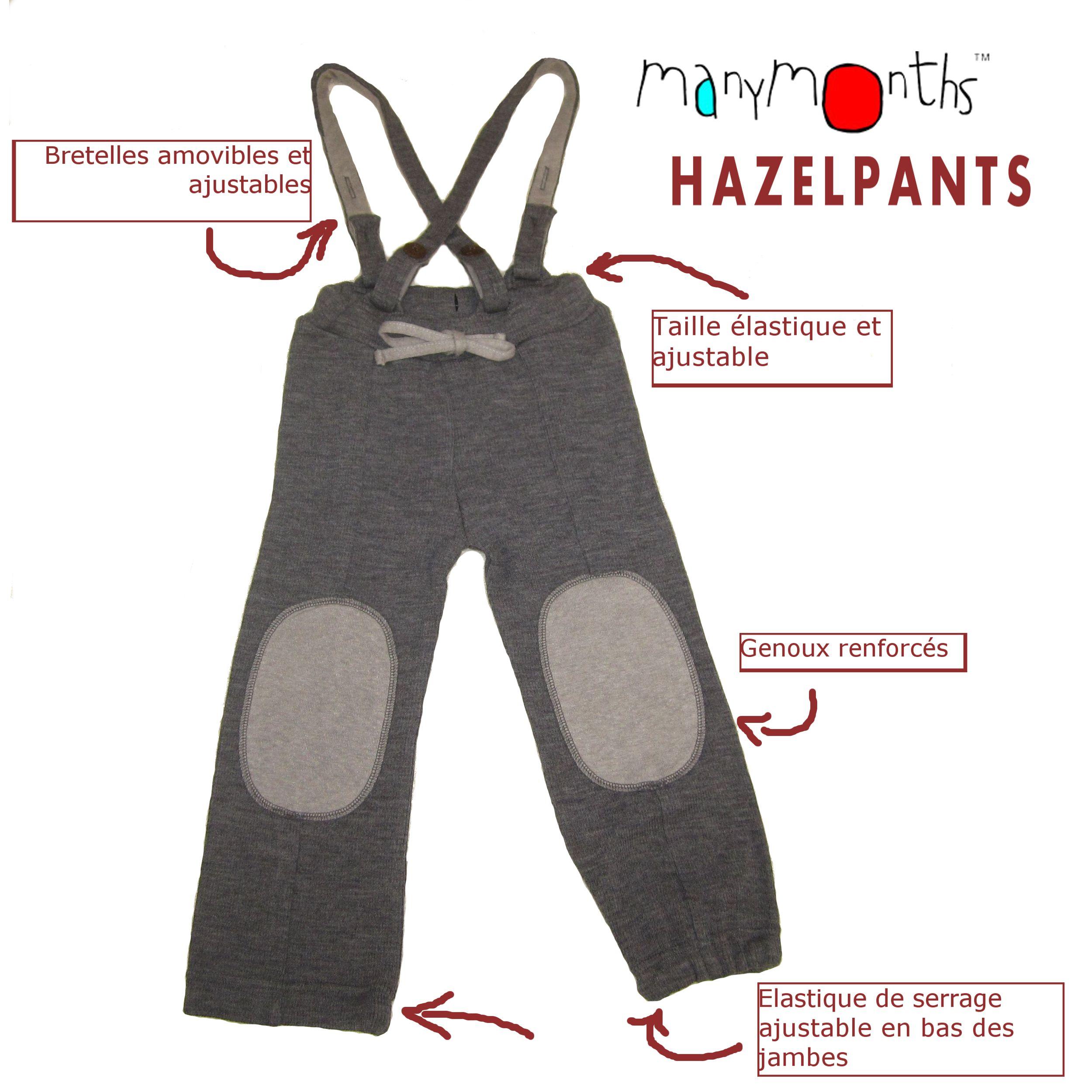 POLOLO SOFT - Chaussons souples en cuir naturel de tannage végétal MANYMONTHS – HAZEL PANTS – pantalon en pure laine mérinos