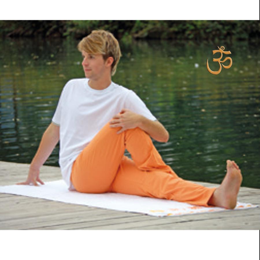 Pour homme PANTALON de yoga et bien-être ORANGE