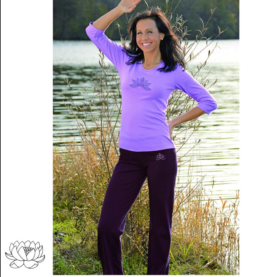 Racine PANTALON de yoga et bien-être AUBERGINE