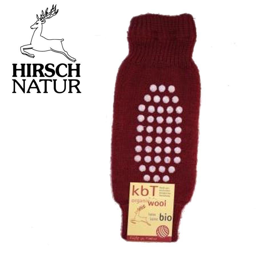 Racine Hirsch -Jambières - Protège-genoux antidérapantes en laine bio
