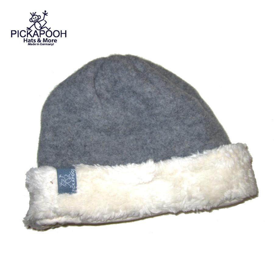 Bonnets hivers PICKAPOOH - Bonnet en laine JO - GRIS