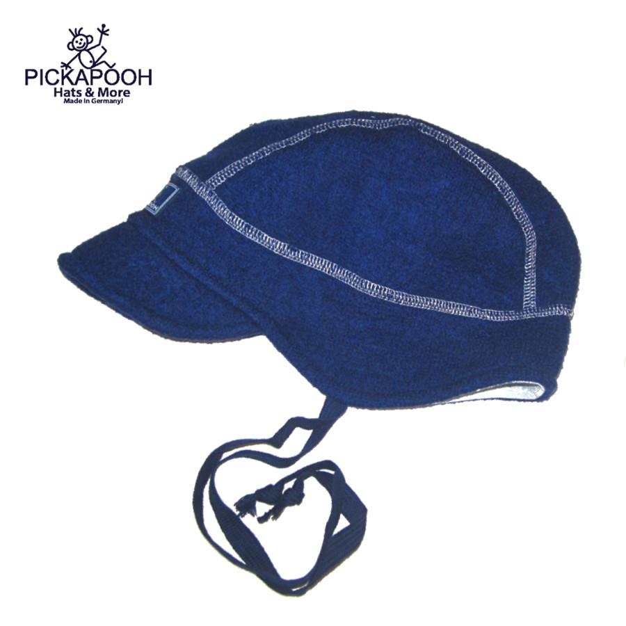 Bonnets hivers PICKAPOOH - Casquette bébé en laine LINUS - BLEU MARINE