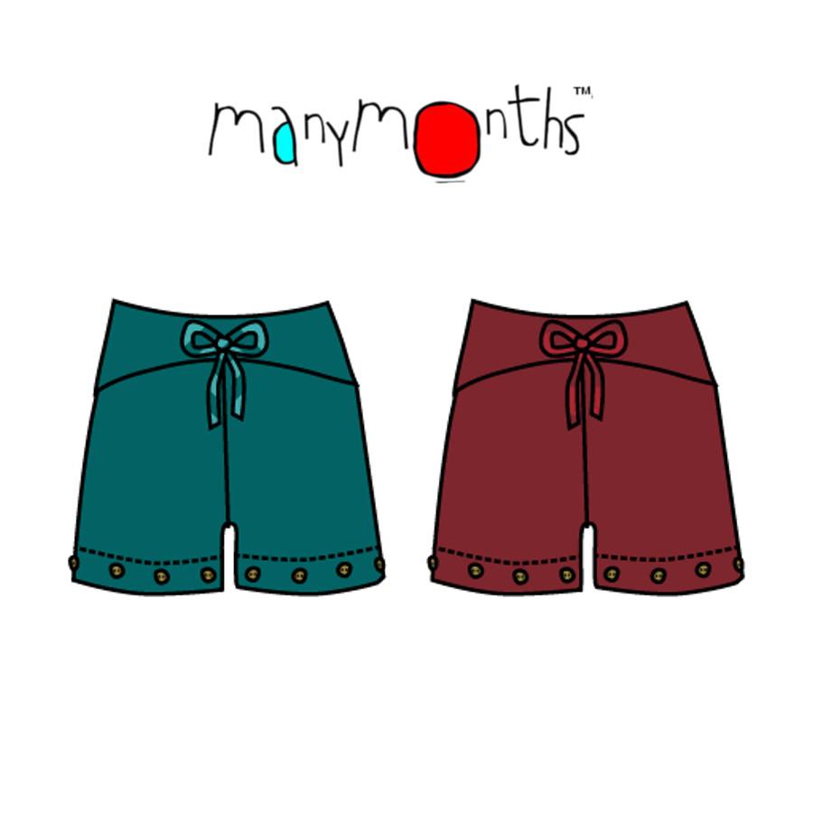 Racine MANYMONTHS – YOGAPANTS SHORT/LONG en coton bio