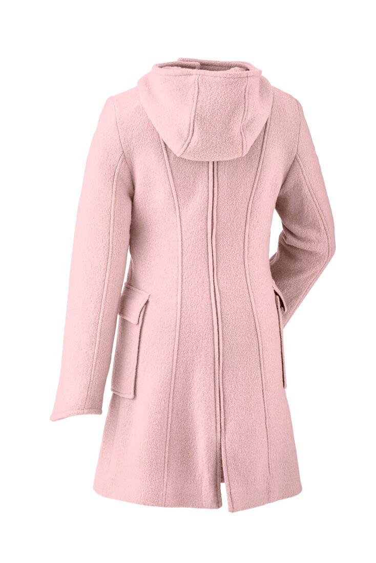 Vestes et manteaux MAMALILA casual MAMALILA MANTEAU de grossesse et portage en LAINE - ROSE - Empiècements inclus - Edition limitée