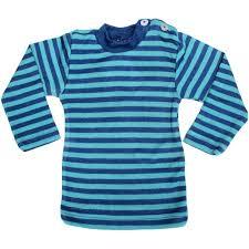 Racine ENGEL – SOUS-PULL Océan/Turquoise manches longues RAYURES  en laine/soie (86-152)