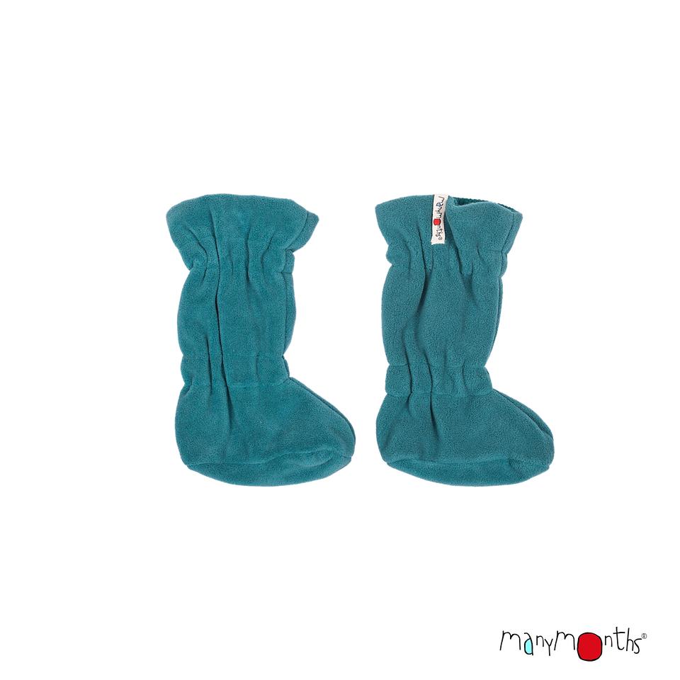 Laine 100% Mérinos 2019-2020 MANYMONTHS 2019/20 - Chaussons de portage ajustables  reversibles laine mérinos et polaire