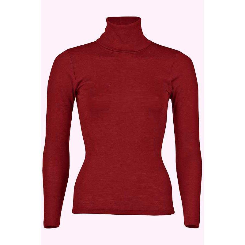 Coup de coeur ENGEL - Sous-pull col roulé en laine/soie adultes rouge cerise