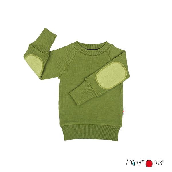 Robes et jupes MANYMONTHS 2020-21 - Pull en pure laine mérinos avec coudes renforcés