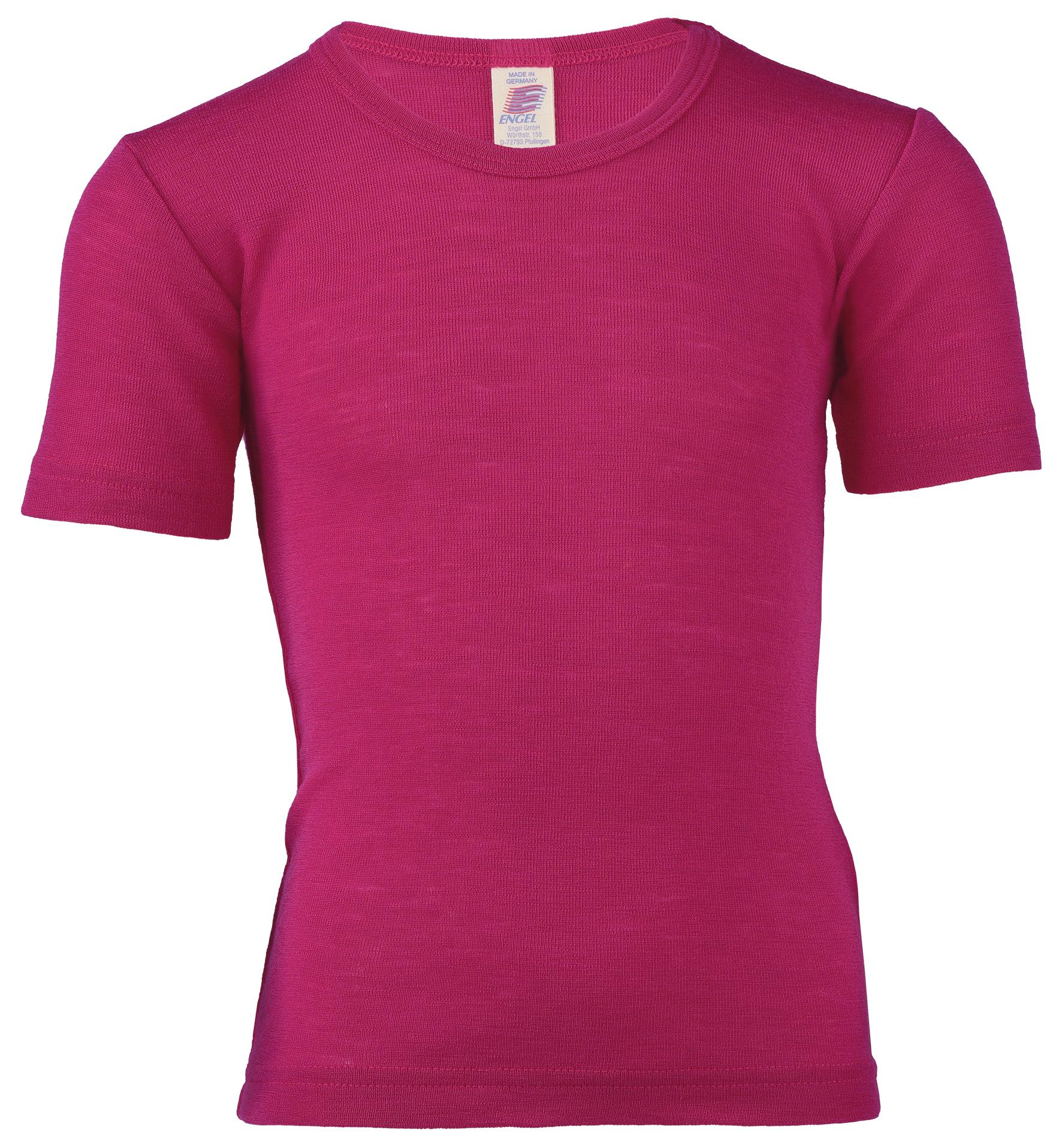 Sous-vêtements ENGEL Nouveauté - Sous - pull manches courtes  en 70% laine et 30% soie (86/92 au 164)