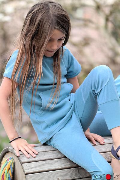 Débardeurs, T-shirts, pulls, gilets, multicapes et bodys Eté 2021 -  T-shirt manches courtes poche kangourou