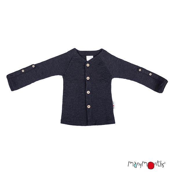 Débardeurs, T-shirts, pulls, gilets, multicapes et bodys Manymonths 2021-22 - Gilet en pure laine mérinos